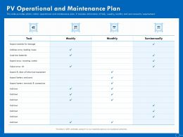 PV Operational And Maintenance Plan Ppt Powerpoint Presentation File Example