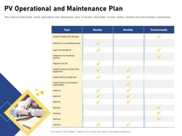 PV Operational And Maintenance Plan Semiannually Ppt Powerpoint Presentation Slides Example Topics