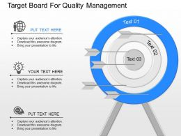 pv Target Board For Quality Management Powerpoint Template
