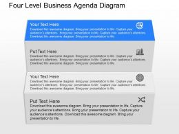 pw Four Level Business Agenda Diagram Powerpoint Template
