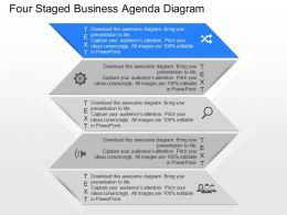py Four Staged Business Agenda Diagram Powerpoint Template