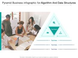 Pyramid Business For Algorithm And Data Structures Infographic Template