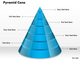 Pyramid Cone Powerpoint Template Slide