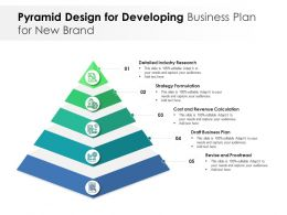 Pyramid Design For Developing Business Plan For New Brand