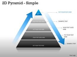 Pyramid Design With Process Arrow