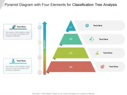 Pyramid Diagram With Four Elements For Classification Tree Analysis Infographic Template