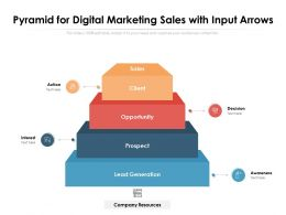Pyramid For Digital Marketing Sales With Input Arrows