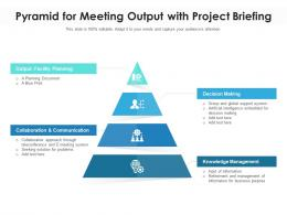 Pyramid For Meeting Output With Project Briefing