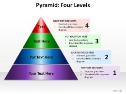 pyramid four levels ppt slides presentation diagrams templates powerpoint info graphics