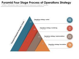 Pyramid Four Stage Process Of Operations Strategy