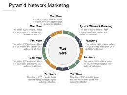 Pyramid Network Marketing Ppt Powerpoint Presentation Inspiration Slide Download Cpb