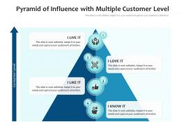 Pyramid Of Influence With Multiple Customer Level