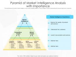 Pyramid Of Market Intelligence Analysis With Importance