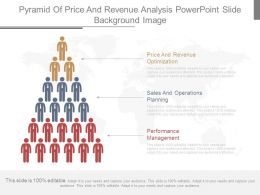 Pyramid Of Price And Revenue Analysis Powerpoint Slide Background Image