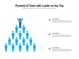 Pyramid Of Team With Leader On The Top