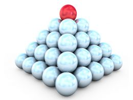 pyramid_of_white_balls_and_red_on_top_leadership_stock_photo_Slide01