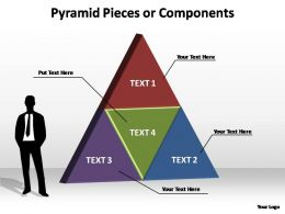 pyramid pieces or components powerpoint templates