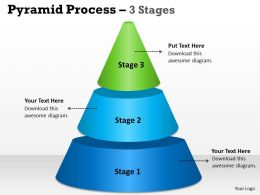 Pyramid Process 3 Stages For Marketing