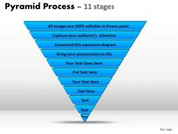 pyramid process diagram 11 stages powerpoint slides and ppt templates 0412