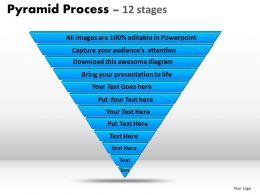 pyramid process diagram 12 stages powerpoint slides and ppt templates 0412
