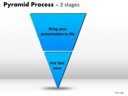Pyramid Process Diagram 2 Stages Powerpoint Slides And Ppt Templates 0412