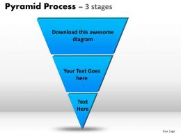 Pyramid Process Diagram 3 Stages Powerpoint Slides And Ppt Templates 0412