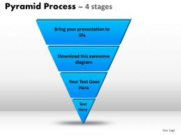 Pyramid Process Diagram 4 Stages Powerpoint Slides And Ppt Templates 0412