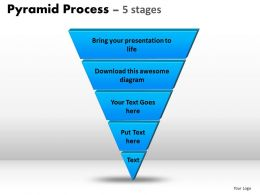 Pyramid Process Diagram 5 Stages Powerpoint Slides And Ppt Templates 0412
