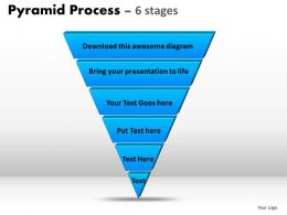 Pyramid Process Diagram 6 Stages Powerpoint Slides And Ppt Templates 0412