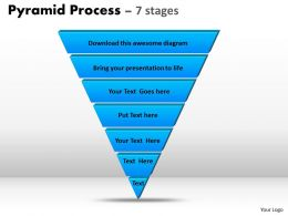 Pyramid Process Diagram 7 Stages For Marketing