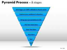 Pyramid Process Diagram 8 Stages Powerpoint Slides And Ppt Templates 0412