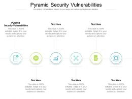Pyramid Security Vulnerabilities Ppt Powerpoint Presentation Slides Graphics Cpb