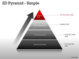 Pyramid Simple Design With 4 Stages Business