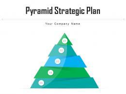 Pyramid Strategic Plan Business Goals Operational Targets Arrow Implementation
