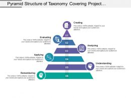 Pyramid Structure Of Taxonomy Covering Project Process Stages Of Creating Evaluating Analysing And Understanding