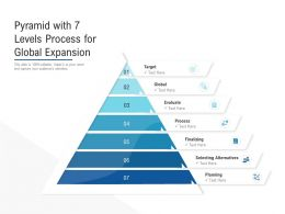 Pyramid With 7 Levels Process For Global Expansion