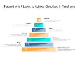 Pyramid With 7 Levels To Achieve Objectives In Timeframe