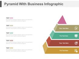 Pyramid With Business Infographics Flat Powerpoint Design