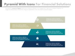 Pyramid With Icons For Financial Solutions Powerpoint Slides