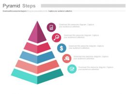 Pyramid With Icons For Growth Analysis Flat Powerpoint Design