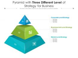 Pyramid With Three Different Level Of Strategy For Business