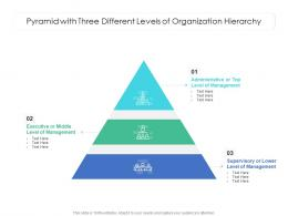 Pyramid With Three Different Levels Of Organization Hierarchy