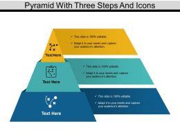 Pyramid With Three Steps And Icons