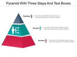 Pyramid With Three Steps And Text Boxes