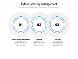 Python Memory Management Ppt Powerpoint Presentation Portfolio Graphics Template Cpb