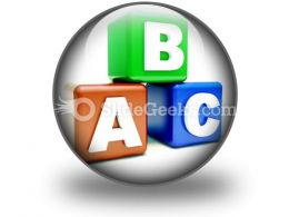 Abc Blocks Education PowerPoint Icon C