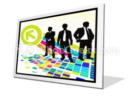 Abstract Mosaic PowerPoint Icon F