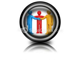 Agreement With Intermediary PowerPoint Icon Cc  Presentation Themes and Graphics Slide01