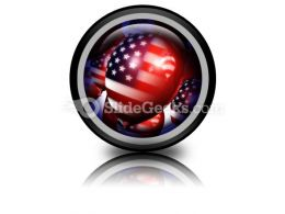 America Balloons01 PowerPoint Icon Cc