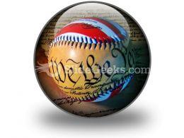 America Baseball PowerPoint Icon C